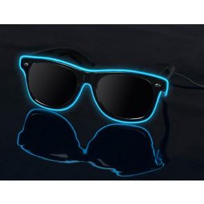 Blue on Black - LightUp™ Sunglasses