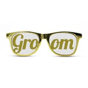 Groom Gold Metal Glasses