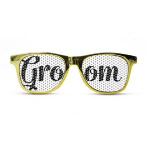 Groom Metallic Chic Gold Sunglasses