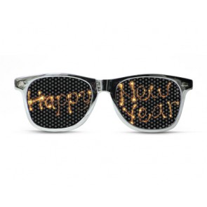Happy New Years Fireworks Sunglasses