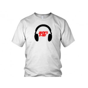 Headphones b-day tshirt