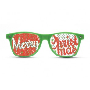 Merry Christmas Green Sunglasses