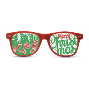 Merry Christmas Red Sunglasses