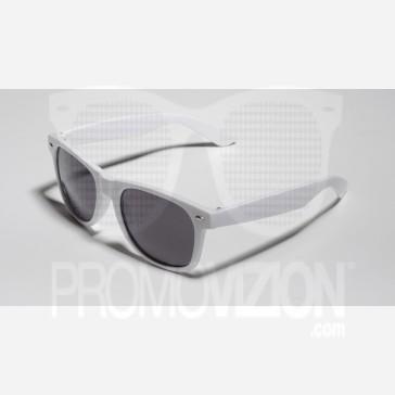 Matte White Shaded Sunglasses