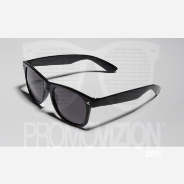 Matte Black Shaded Sunglasses