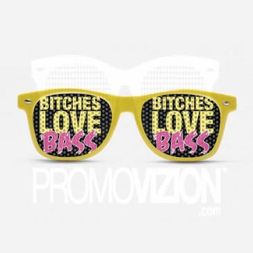 Bitches love bass, rave shades