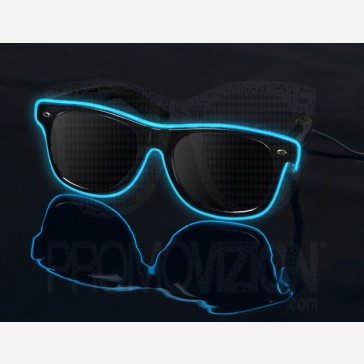 Blue on Black - LightUp™ Sunglasses