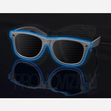 Blue on White - LightUp™ Sunglasses