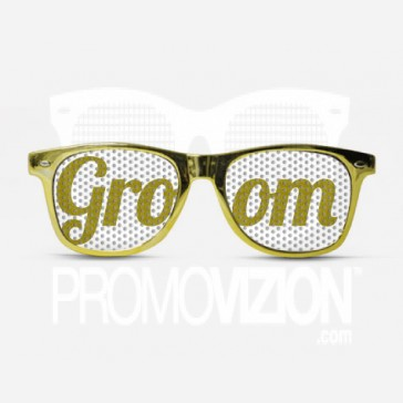 Groom Gold Metal Glasses
