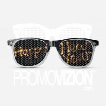 Happy New Years Fireworks Sunglasses