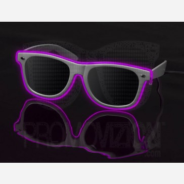 Pink on White - LightUp™ Sunglasses
