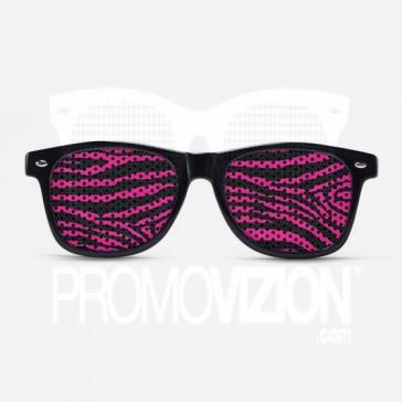 Pink Zebra Print Sunglasses