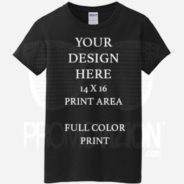 Promo Black T-shirt Full Color DTG Print