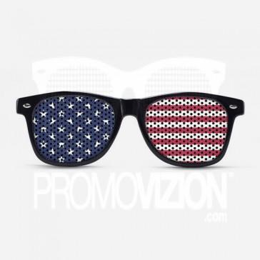 USA Flag Sunglasses - Black