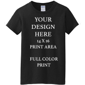 Promo Black T-shirt Full Color DTG Print
