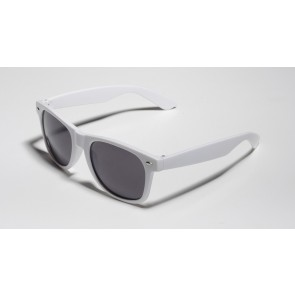 Matte White Shaded Sunglasses