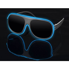 Blue on White Stunners - LightUp™ Sunglasses