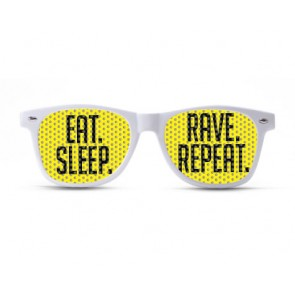 eat sleep rave repeat, Rave shades