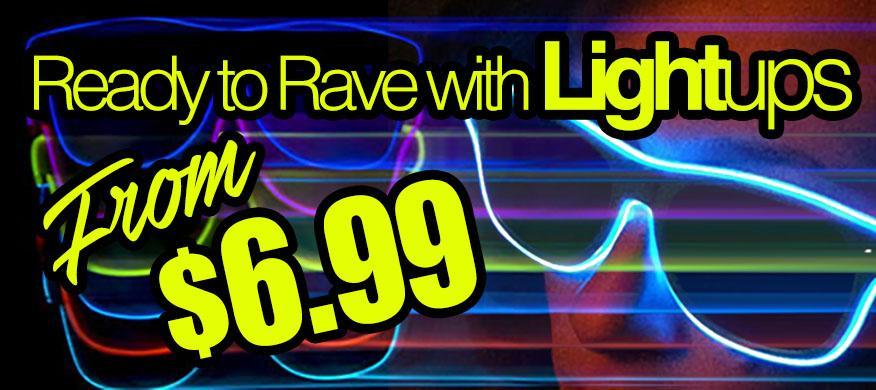 elwire lightups rave glasses